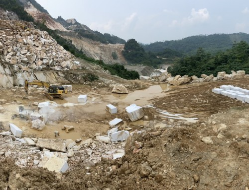 Quarry of Pure White Marble